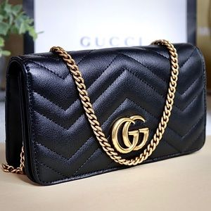 Gucci Bags - Gucci GG Marmont Mini Quilted Leather Shoulder Bag